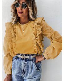 Дамска блуза в цвят горчица - код 6615