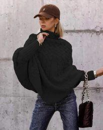 Дамски пуловер в черно - код 24831
