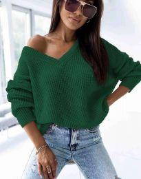 Дамски пуловер в зелено - код 0283