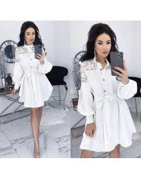 Елегантна рокля в бяло - код 6364