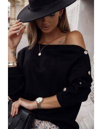 Дамска блуза в черно - код 4640
