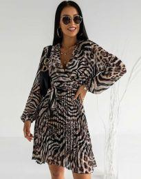 Дамска плисирана рокля - код 8497 - 3