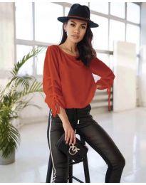Елегантна дамска блуза в червено - код 5165