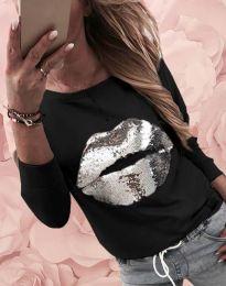 Атрактивна дамска блуза в черно - код 12091