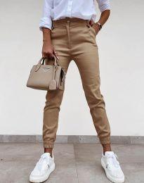 Дамски панталон в цвят капучино - код 4464