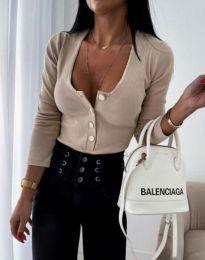 Дамска блуза в бежово - код 11698