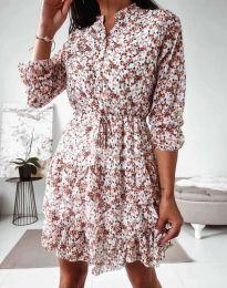 Дамска рокля с флорален десен - код 0586 - 5