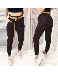 Дамски панталон в черно - код 6329