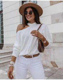 Дамска блуза в бяло - код 5618