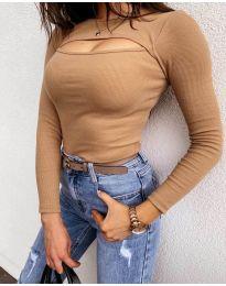 Дамска блуза в кафяво - код 7780