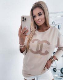 Атрактивна дамска блуза в бежово - код 0677