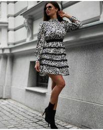 Дамска рокля с ефектен десен - код 9013 -1