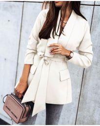 Елегантно дамско сако в бяло - код 1980