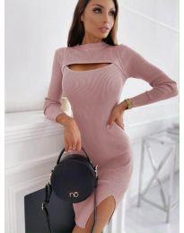 Дамска рокля в розово - код 4528