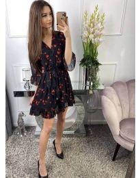 Ефектна рокля в черно на сърчица - код 287