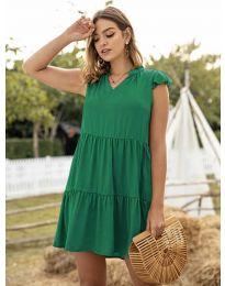 Свободна дамска рокля в зелено - код 696