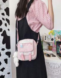 Ежедневна дамска чанта в светлорозово - код B576