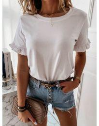 Дамска тениска в бял цвят - код 068