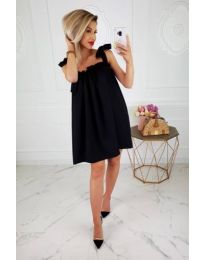 Свободна рокля в черен  цвят - код 482