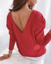 Свободна дамска блуза в червено - код 5173