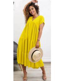 Феерична рокля в жълто - код 4475