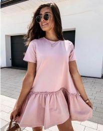 Атрактивна дамска рокля в розово - код 11890