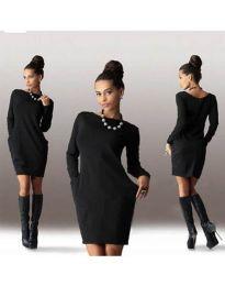 Изчистена рокля в черно - код 341
