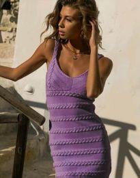 Елегантна дамска рокля в лилаво - код 2203