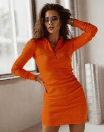 Дамска рокля в оранжево - код 4288