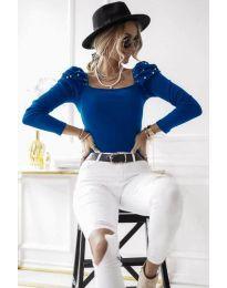 Елегантна блуза в синьо - код 15766