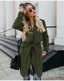 Дамско палто в маслено зелено - код 814