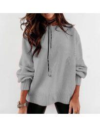 Дамски пуловер в сиво - код 3345