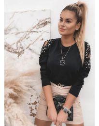 Дамска елегантна блуза в черно - код 4216