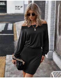 Дамска рокля в черно - код 4447