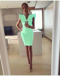 Елегантна дамска рокля в цвят мента - код 009