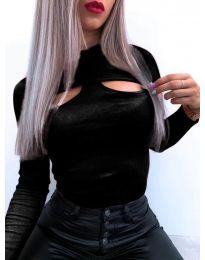 Дамска блуза в черно - код 1412