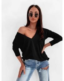 Дамска блуза в черно - код 3478