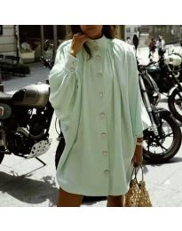 Свободна рокля в цвят мента - код 0899