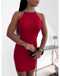 Дамска рокля в червено - код 9690
