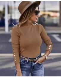 Дамска блуза в кафяво - код 7971