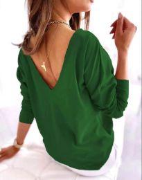 Свободна дамска блуза в зелено - код 5173