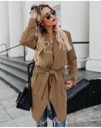 Дамско палто в кафяво - код 814