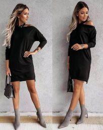 Дамска рокля в черно - код 0796