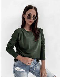 Дамска блуза в масленозелено - код 5582