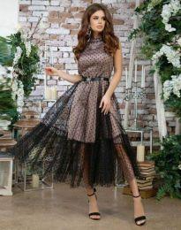 Елегантна дамска рокля в черно - код 6858