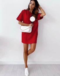 Свободна рокля в червено - код 2231