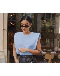 Свободен дамски топ в светло синьо - код 876