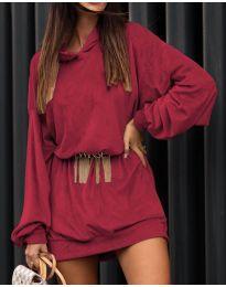Дамска рокля в бордо - код 4547