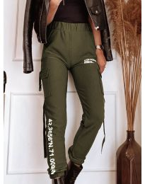 Дамски панталон в зелено - код 1142