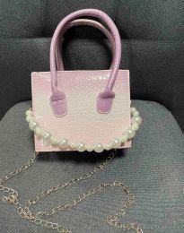Дамска чанта в цвят пудра - код B436 - 7